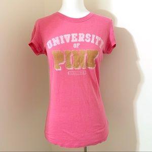 university of pink crew neck t-shirt